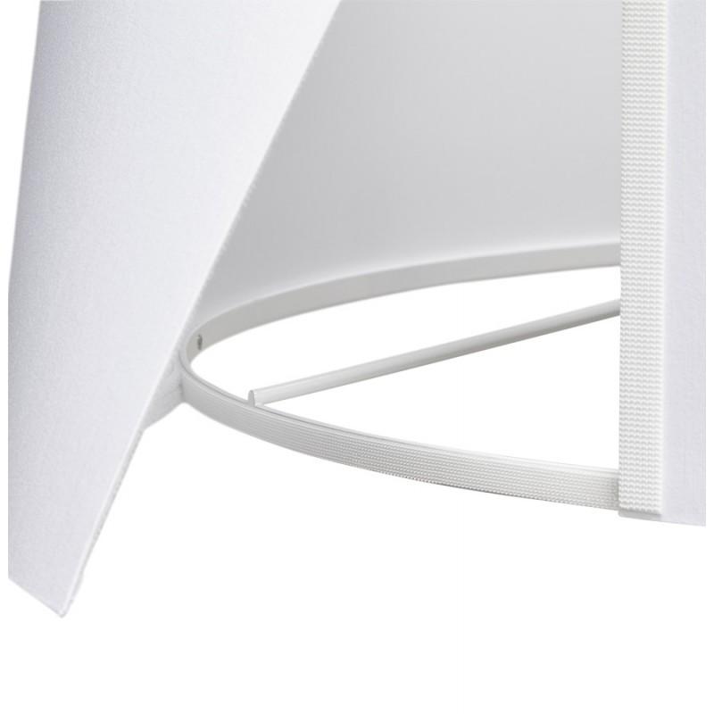 Lampe à poser design avec abat-jour sur trépied noir TRANI MINI (blanc) - image 49955