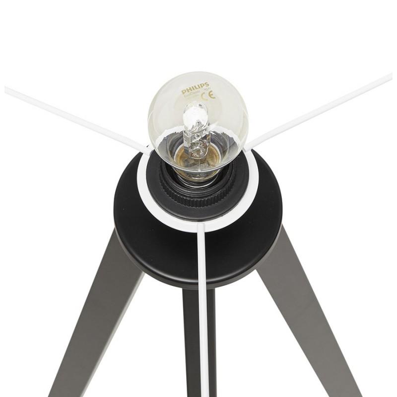 Lampe à poser design avec abat-jour sur trépied noir TRANI MINI (blanc) - image 49958