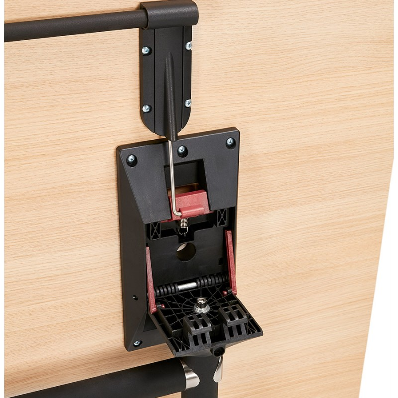 SAYA mesa de tarima de madera de patas negras (160x80 cm) (acabado natural) - image 49998