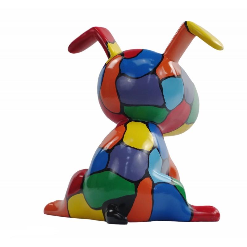 Set de 3 sculptures design CHIEN en résine (multicolore) - image 50005