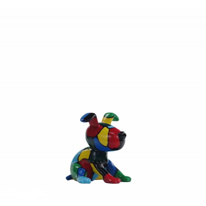 Set de 3 sculptures design CHIEN en résine (multicolore) - image 50015