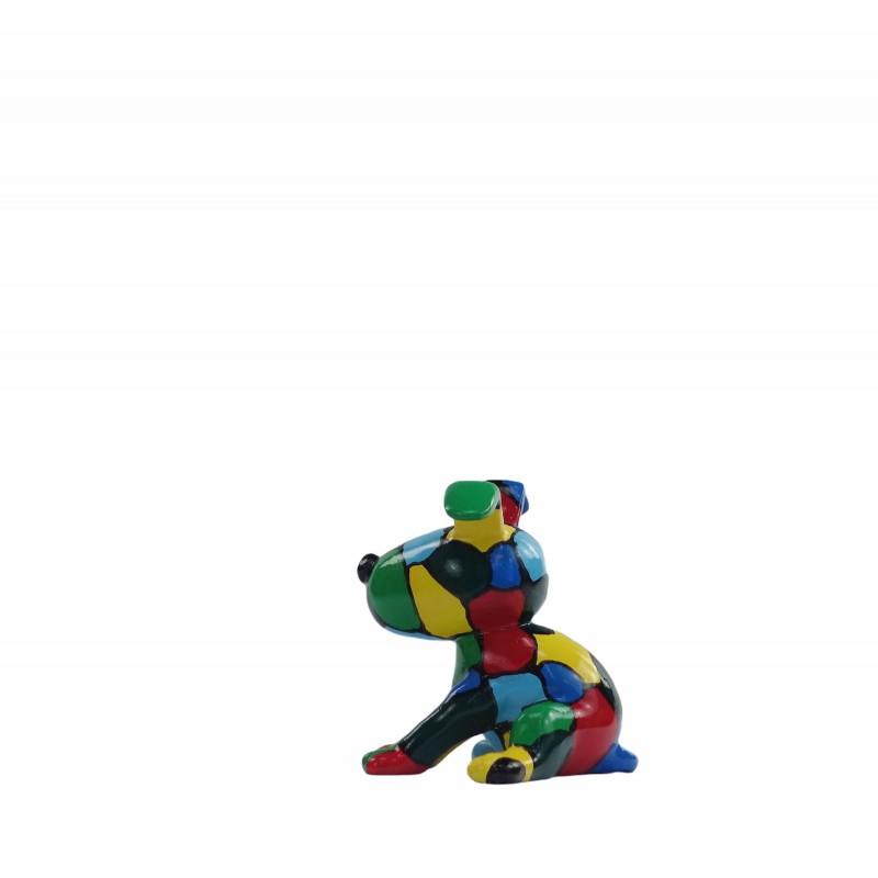 Set de 3 sculptures design CHIEN en résine (multicolore) - image 50017