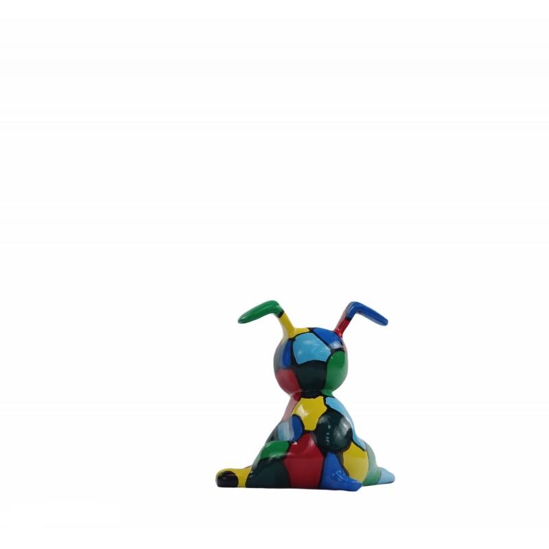 Set de 3 sculptures design CHIEN en résine (multicolore) - image 50018
