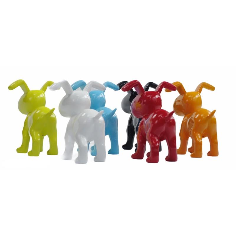 Conjunto de 6 esculturas de perros de diseño en resina (multicolor) - image 50028