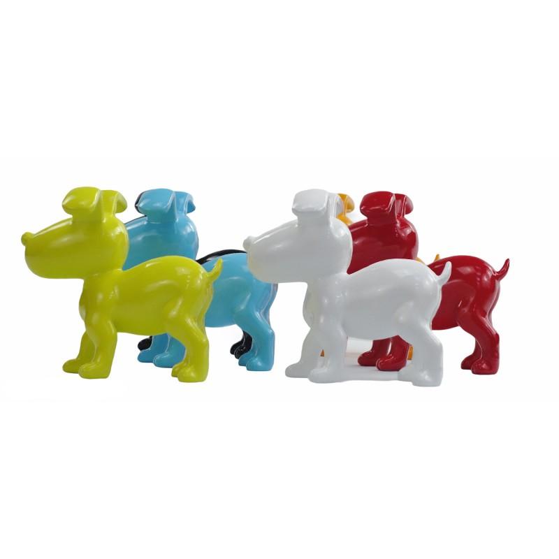 Conjunto de 6 esculturas de perros de diseño en resina (multicolor) - image 50032