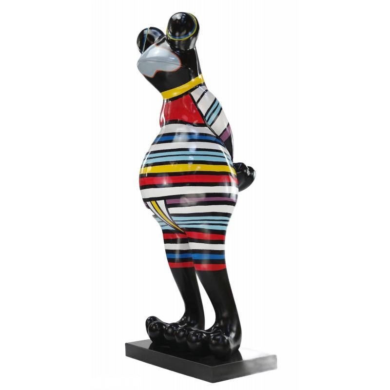 Statue Design dekorative Skulptur Frosch Kratzer im Harz H145 (multicolor) - image 50044