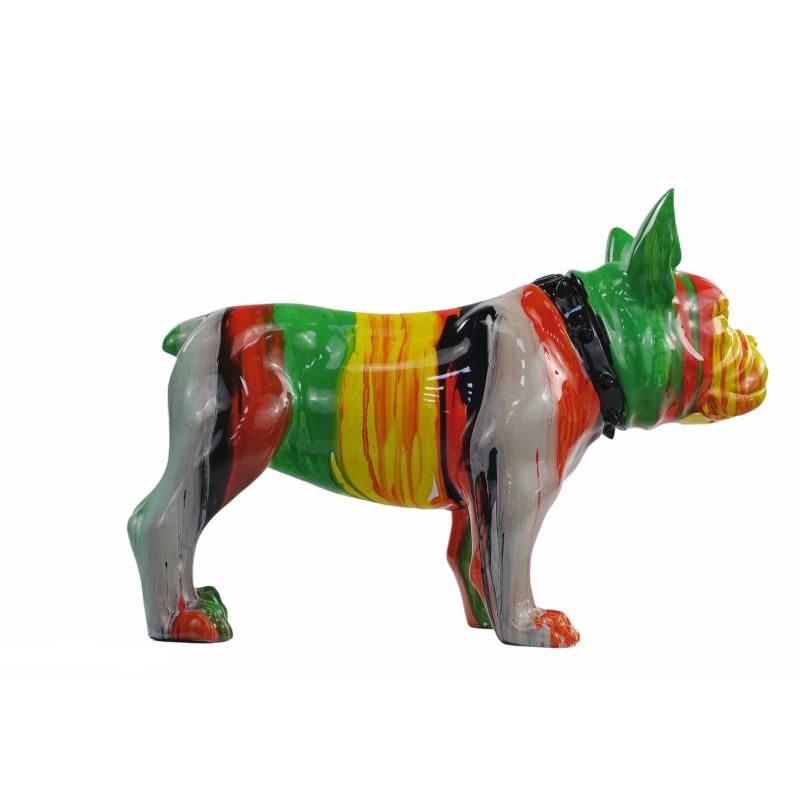 Statue sculpture décorative design CHIEN en résine H43 (multicolore) - image 50046
