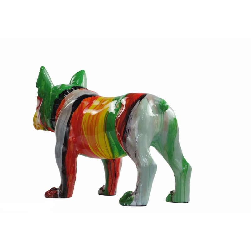 Statue sculpture décorative design CHIEN en résine H43 (multicolore) - image 50050