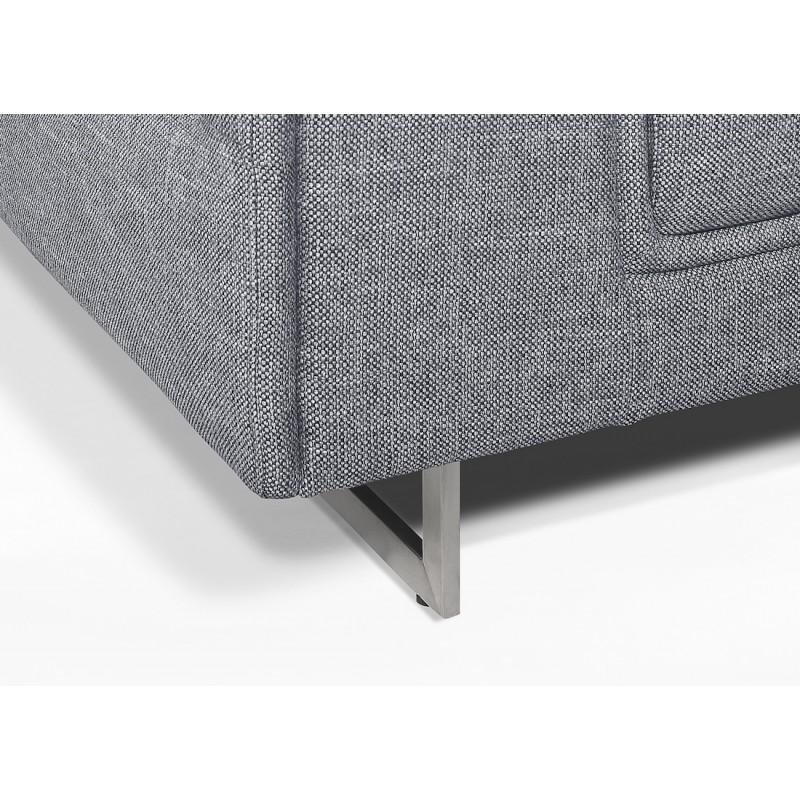 Canapé d'angle design 5 places avec appuis-tête ILONA en tissu - Angle Droit (gris) - image 50168
