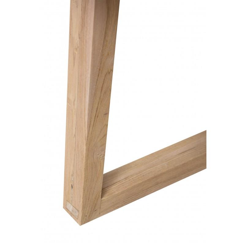 Table à manger design pieds teck massif OXANA (200 cm) (gris) - image 50317