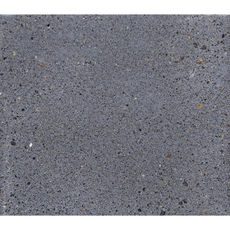 Table à manger design pieds teck massif OXANA (180 cm) (gris) - image 50325