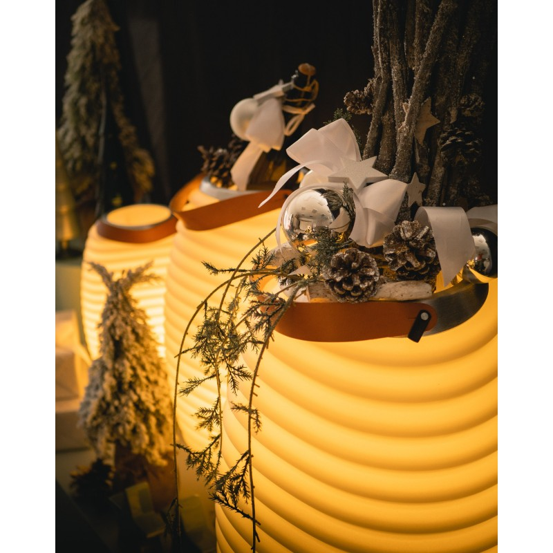 Lampe LED Eimer Champagner schwanger Lautsprecher Bluetooth KOODUU Synergie 65PRO (weiß) - image 50344