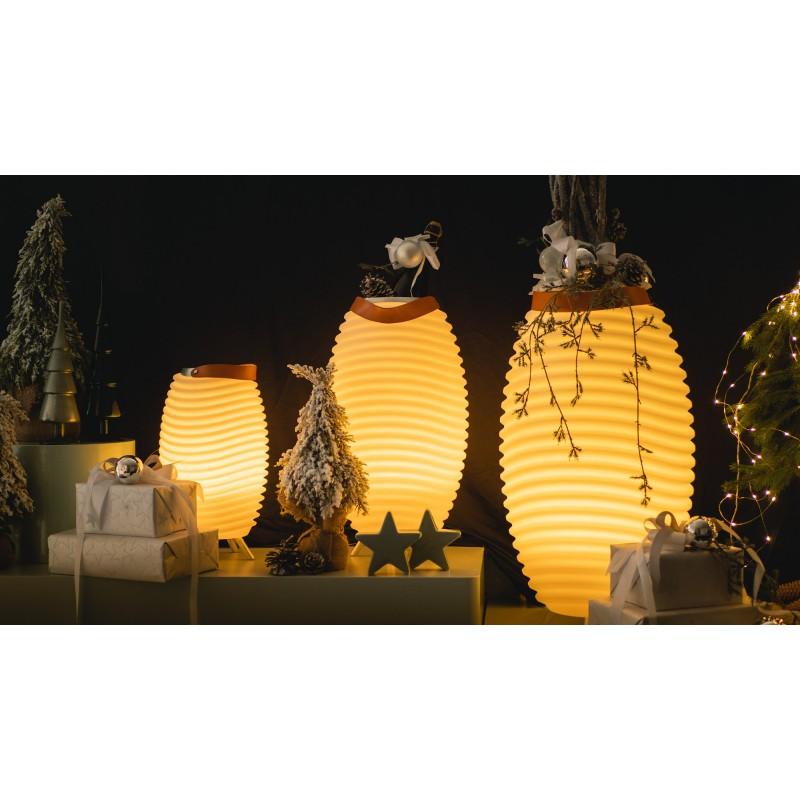 Lampada LED secchio champagne incinta altoparlante bluetooth KOODUU sinergia S 35 (bianco) - image 50345