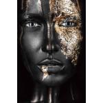 Tableau sur verre FEMME FASHUN (Noir, doré)