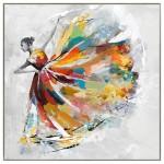 Decorative painting on canvas DANSEUSE