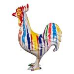 Statue sculpture décorative design COQ TRASH (H170) (Multicolore)