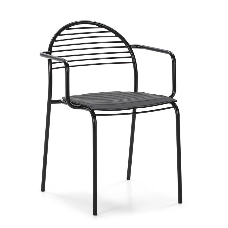 Chair 57X55X80 Metal Black P.Leather Black
