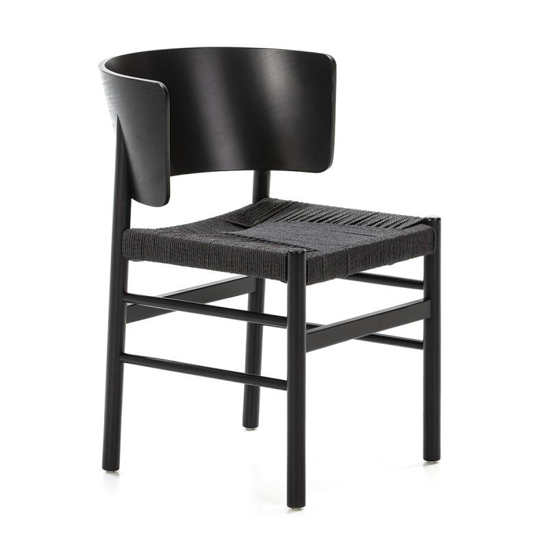 Chaise 52x56x75 Bois Corde Noir - image 50470