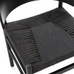 Chair 52X56X75 Wood Rope Black