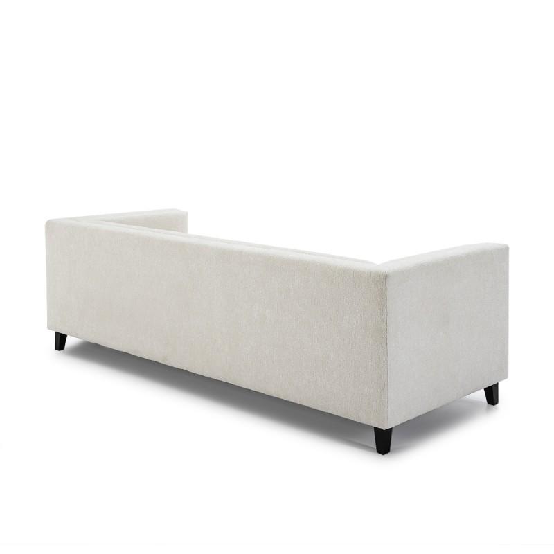 Canapé 4 places 240x95x70 tissu Blanc - image 50616