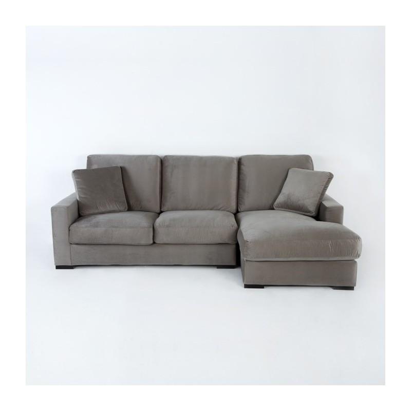 Canapé d'angle 3 places 253x170x94 gris (angle droit) - image 50633