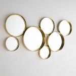 Mirror 119X5X62 Glass Metal Golden