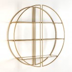 Regale 100X23X100 Glas/Metall Golden