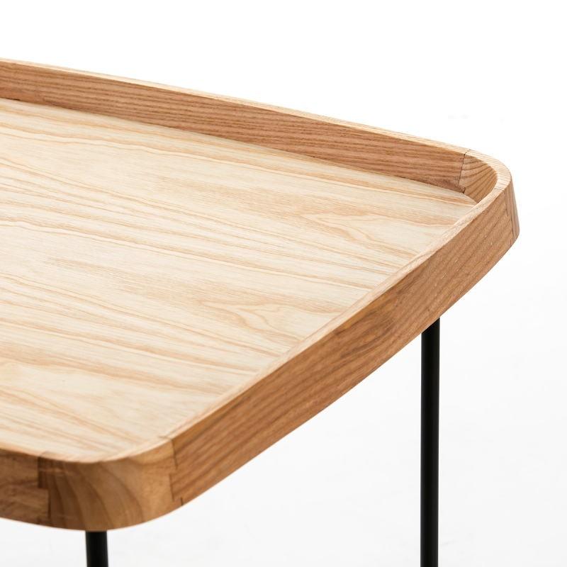 Table d'appoint, bout de canapé, bout de canapé 50x50x53 Bois Métal Noir Doré - image 50740