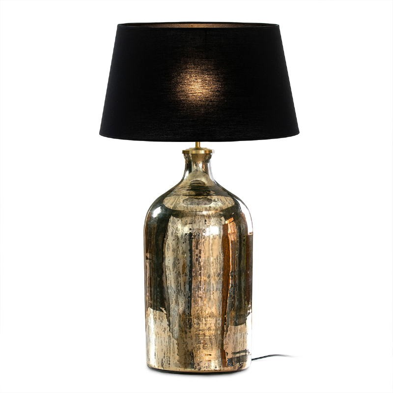 Table Lamp Without Lampshade 28X28X60 Glass Gold Antique - image 50866