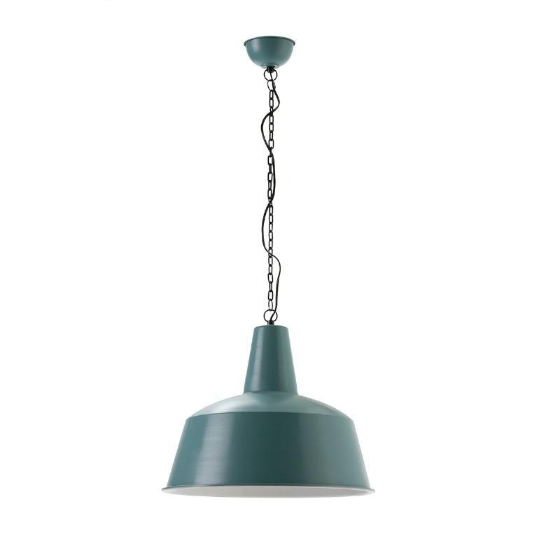 Lampe suspendue 45x45x40 Métal Bleu Blanc