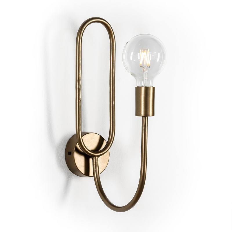 Wall Lamp 10X26X41 Metal Golden - image 50899