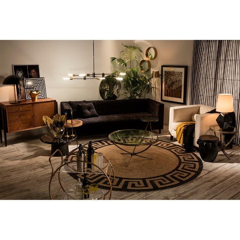 Table basse 70x70x36 Bois Marbre Noir - image 50916