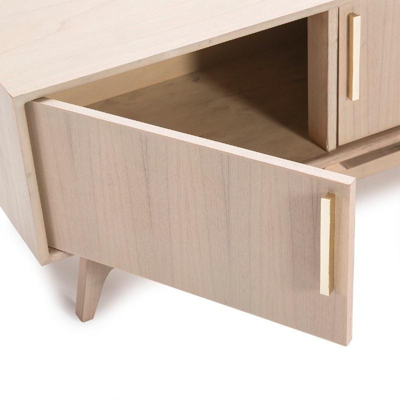 Tv Furniture 3 Doors 160X40X45 Wood Grey - image 50973