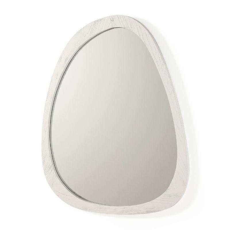 Espejo 101X3X79 Cristal Madera Blanco