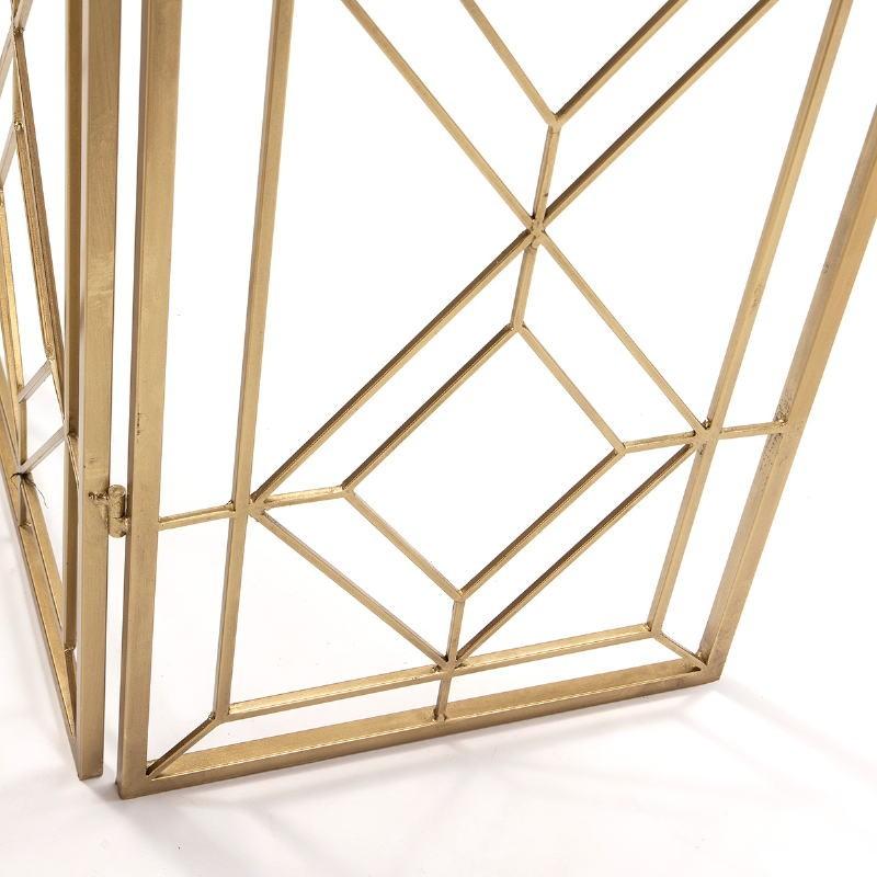 Folding Screen 120X2X184 Metal Golden - image 51154