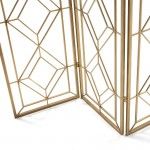 Folding Screen 120X2X184 Metal Golden