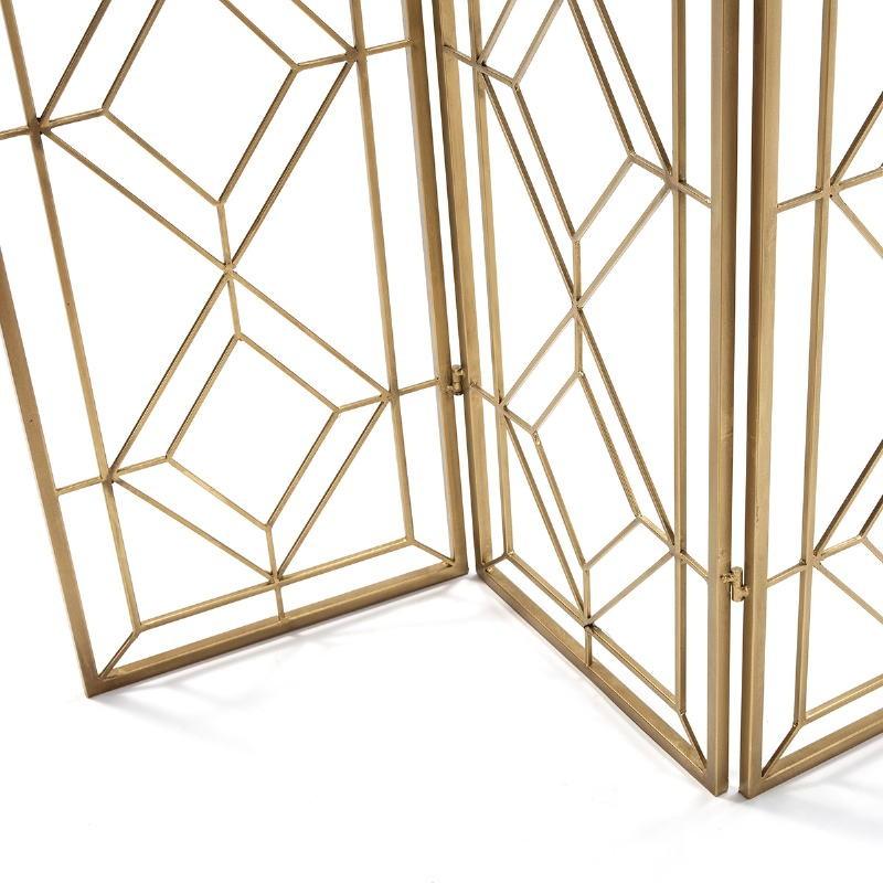 Folding Screen 120X2X184 Metal Golden - image 51155