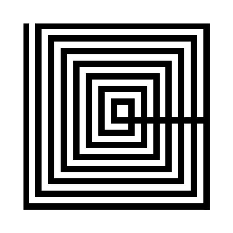 Tableau 50x3x50 Méthacrylate Noir Blanc - image 51181