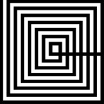 Cuadro 100X3X100 Metacrilato Blanco Negro