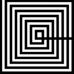 Quadro 100X3X100 Metacrilato Bianco Nero
