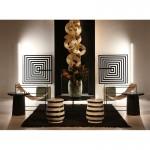 Frame 100X3X100 Methacrylate Black White