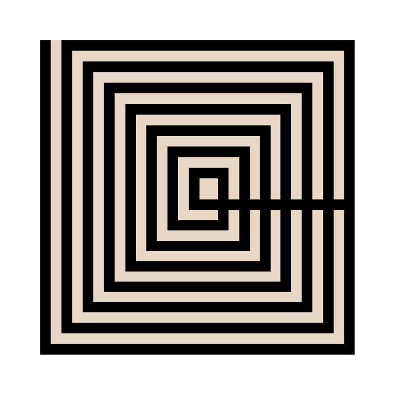 Tableau 50x3x50 Méthacrylate Noir Brun - image 51185