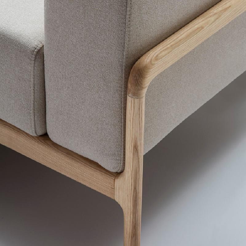 Sessel 96X87X75 Eschenholz/Stoff/Polyester Beige - image 51210