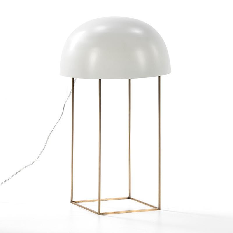 Tischleuchte Mit Display 20X33X70 Metall Golden/Weiß
