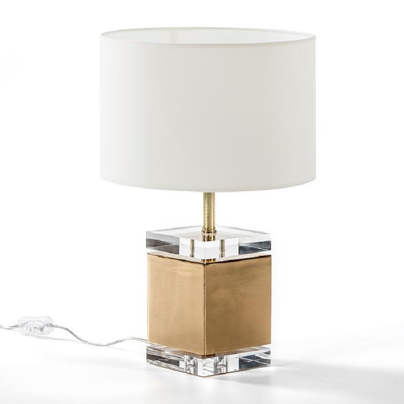 Lampe Auf Tisch Ohne Bildschirm 13X13X34 Acryl/Metall Golden - image 51215