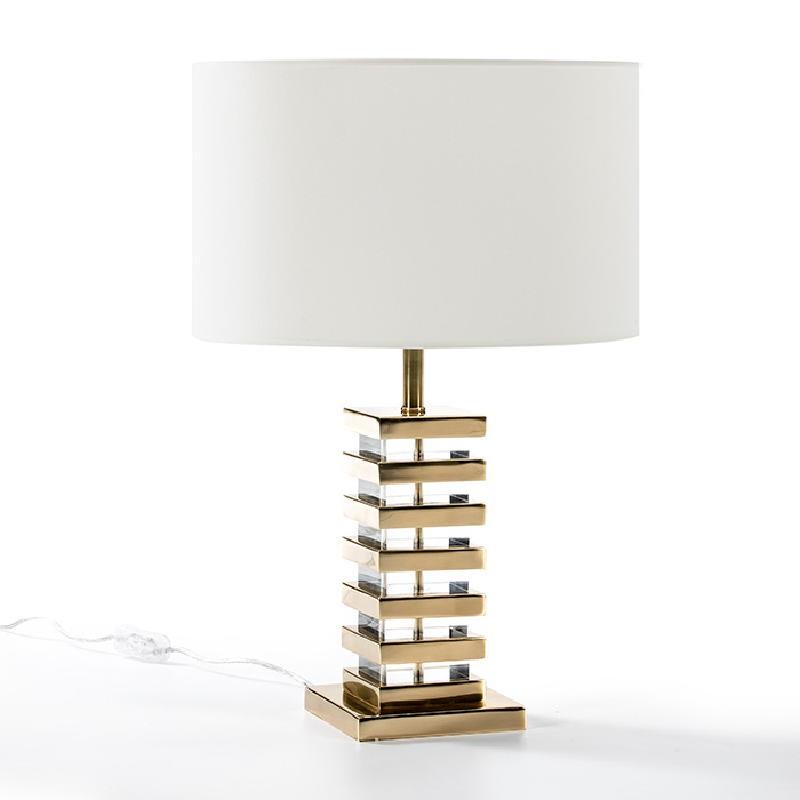 Lampe Auf Tisch Ohne Bildschirm 15X15X41 Acryl/Metall Golden