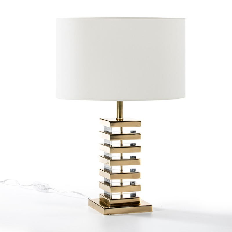 Table Lamp Without Lampshade 15X15X41 Acrylic Metal Golden