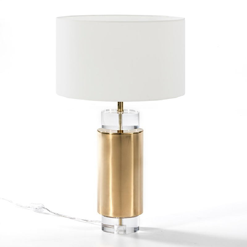 Table Lamp Without Lampshade 14X53 Acrylic Metal Golden - image 51219