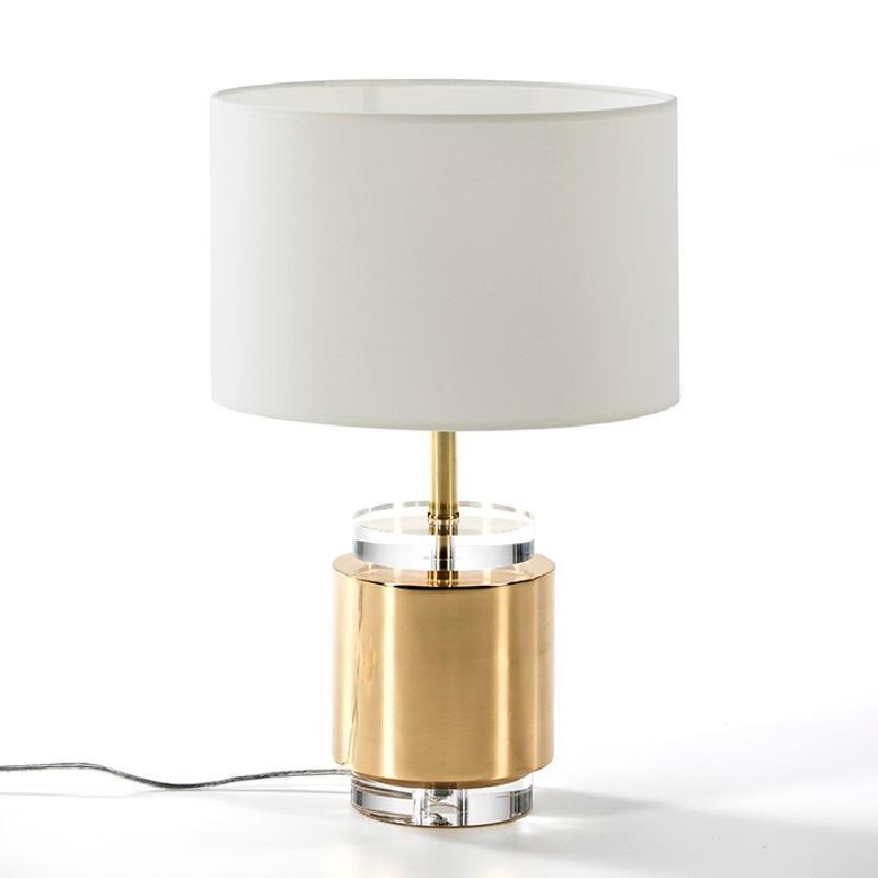 Lampe de Table sans abat-jour 14x33 Acrylique Métal Doré - image 51222