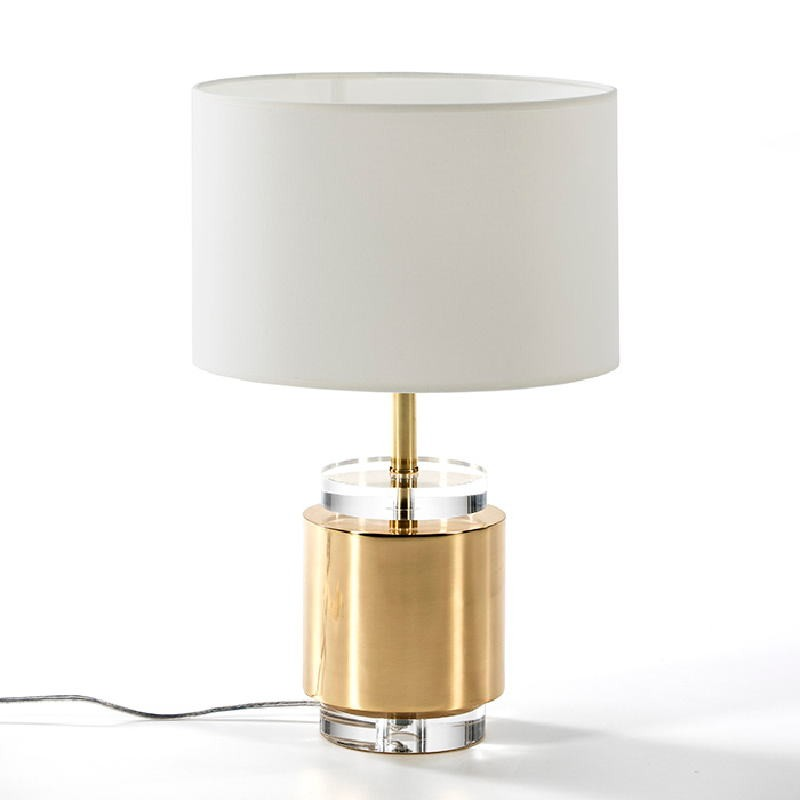 Table Lamp Without Lampshade 14X33 Acrylic Metal Golden